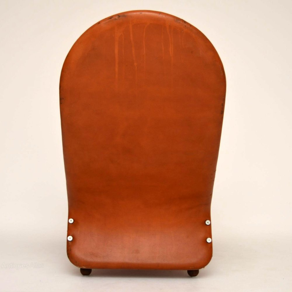Antiques atlas danish leather chaise lounge by verner panton - Chaise verner panton ...