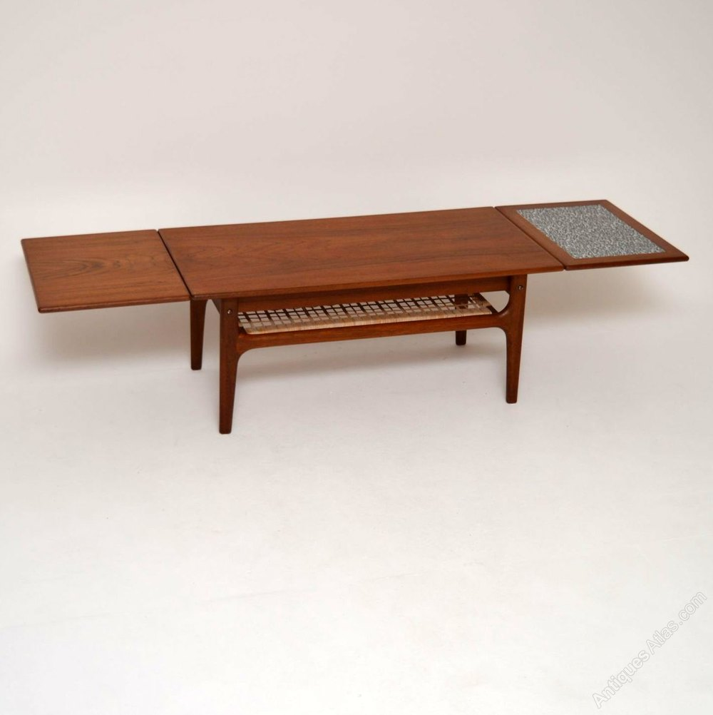 Antiques Atlas Danish Retro Teak Extending Coffee Table
