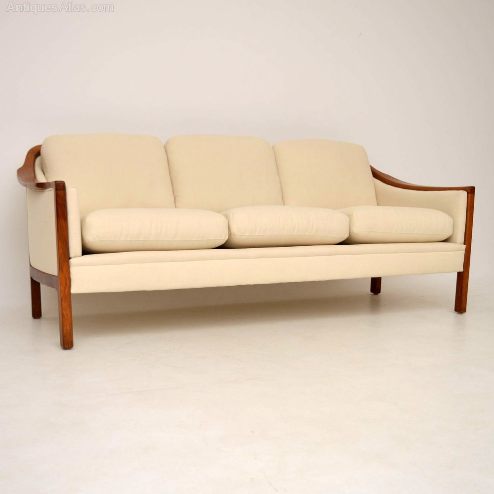 Antiques Atlas Danish Retro Walnut Sofa Vintage 1960 39 S