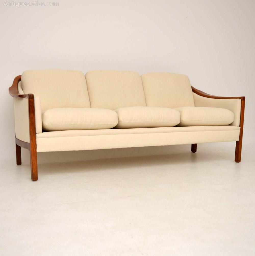 antiques atlas danish retro walnut sofa vintage 1960 39 s