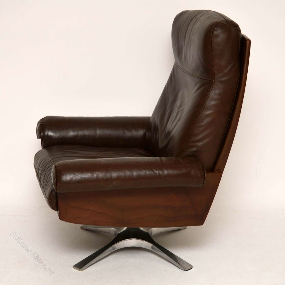 Antiques Atlas - Leather Swivel Armchair By De Sede ...
