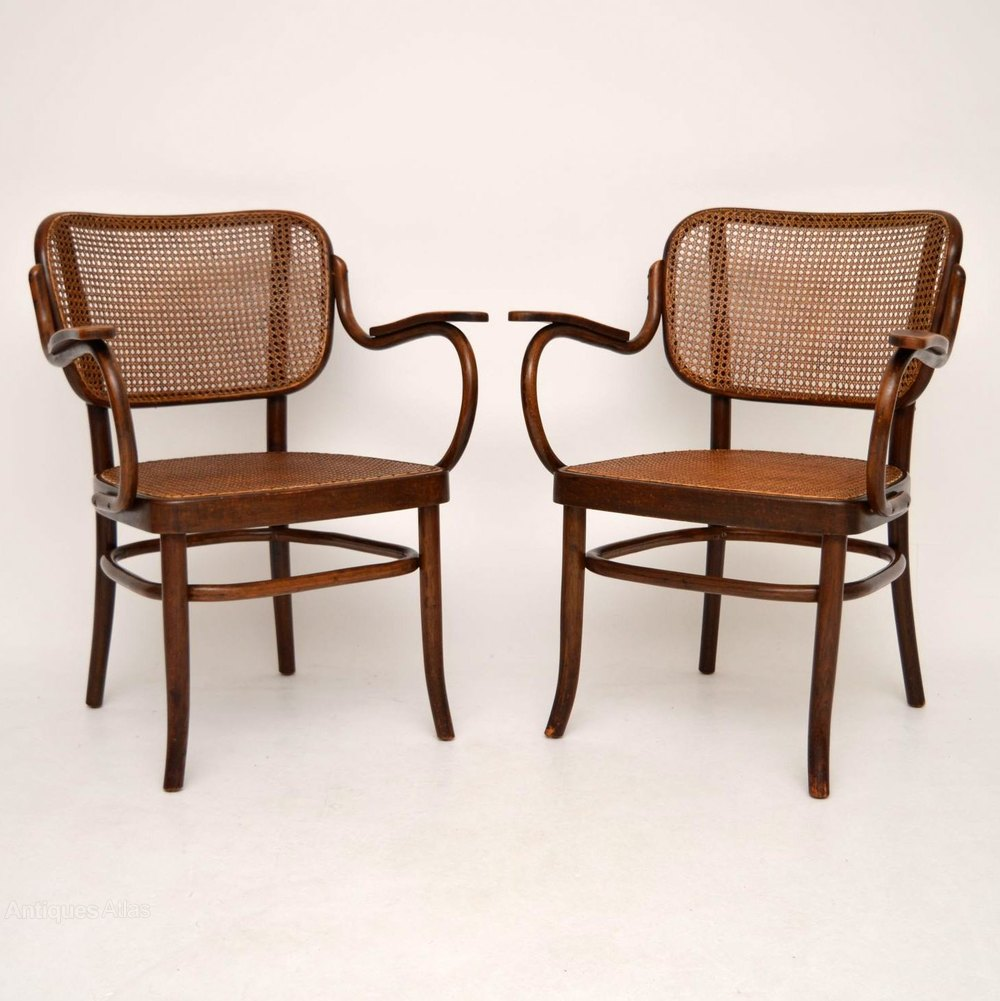 pair of antique thonet bentwood armchairs antiques atlas. Black Bedroom Furniture Sets. Home Design Ideas
