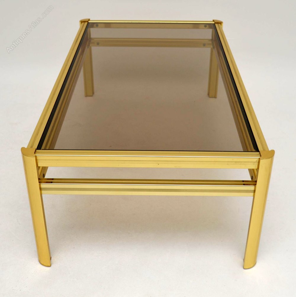 Antiques atlas retro brass coffee table vintage 1970 39 s Antique brass coffee table