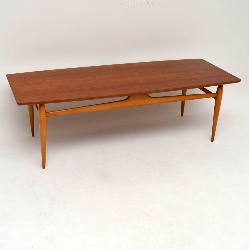 Antique Teak Coffee Table: Retro Italian Teak Coffee Table Vintage