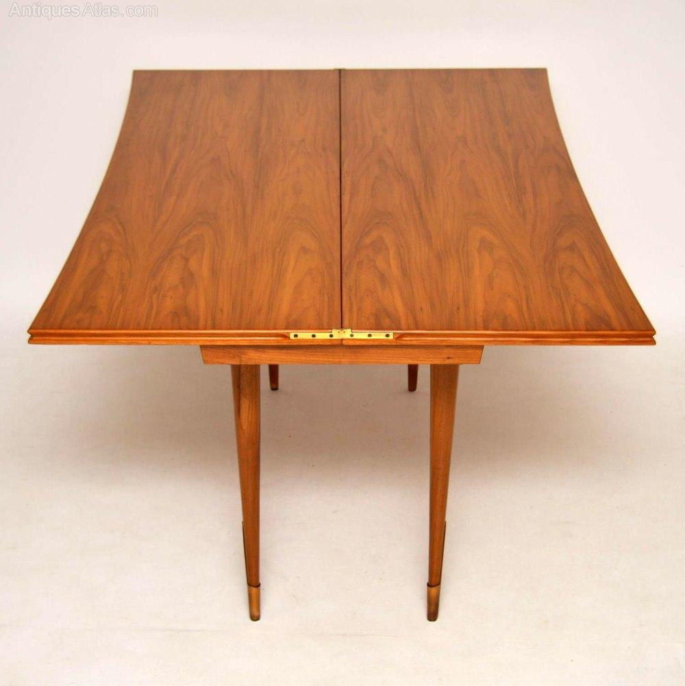 Retro Italian Walnut Console / Dining Table