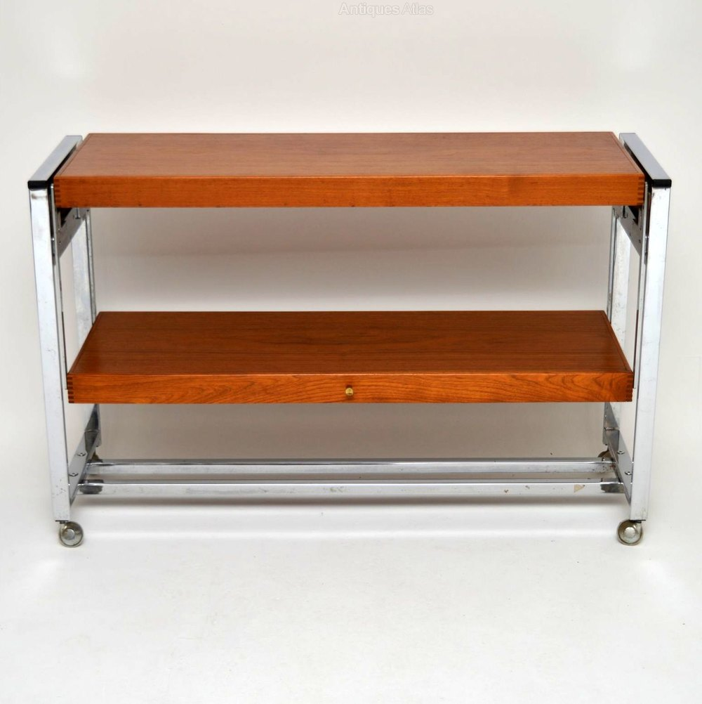 Antiques atlas retro teak chrome side table dining table for Retro side table