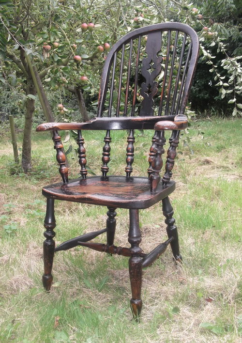 19th Century Yorkshire Broad Arm Windsor Chair Antiques
