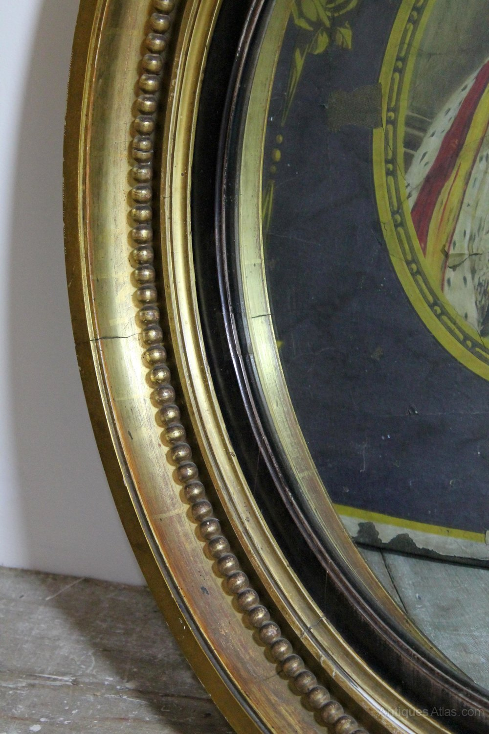 Antiques atlas large regency convex mirror in original for Convex mirror