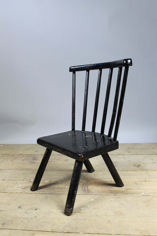 Primitive Child S Welsh Com Back Chair C 1800 Antiques
