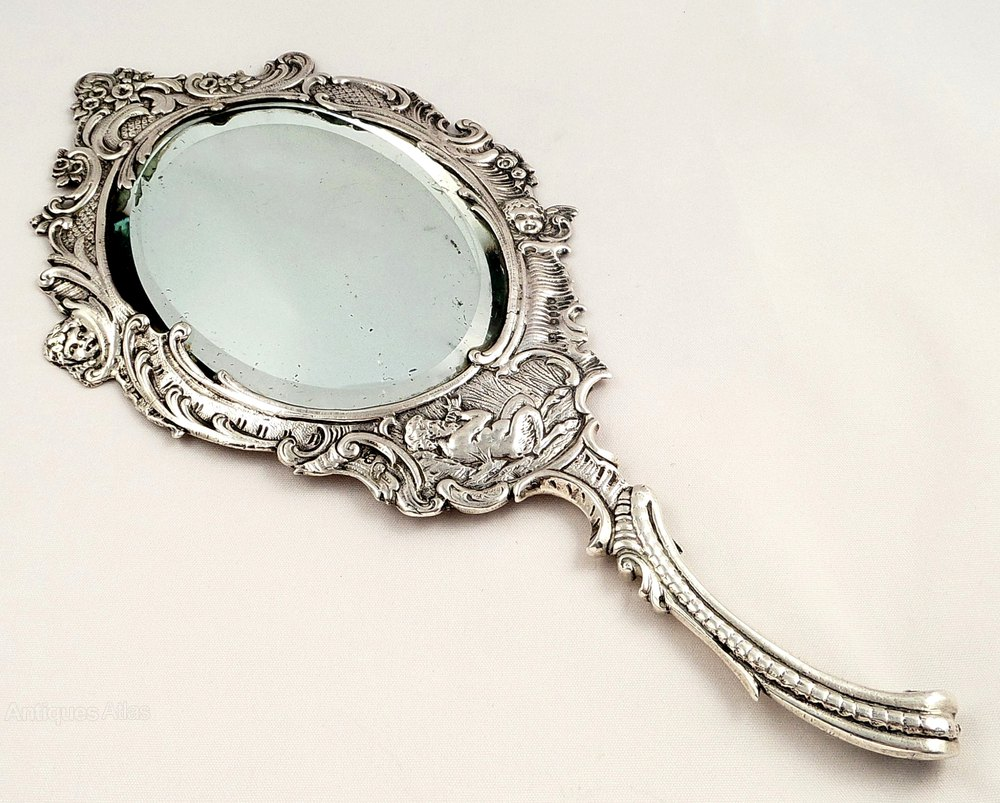 The gallery for victorian hand mirror for Victorian mirror