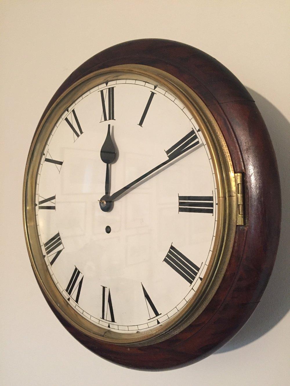 Antiques Atlas 15 Quot Wall Clock Restored