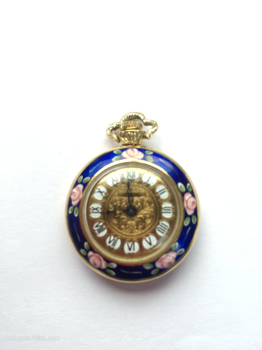 Antiques Atlas Ladies Enamel Pocket Watch