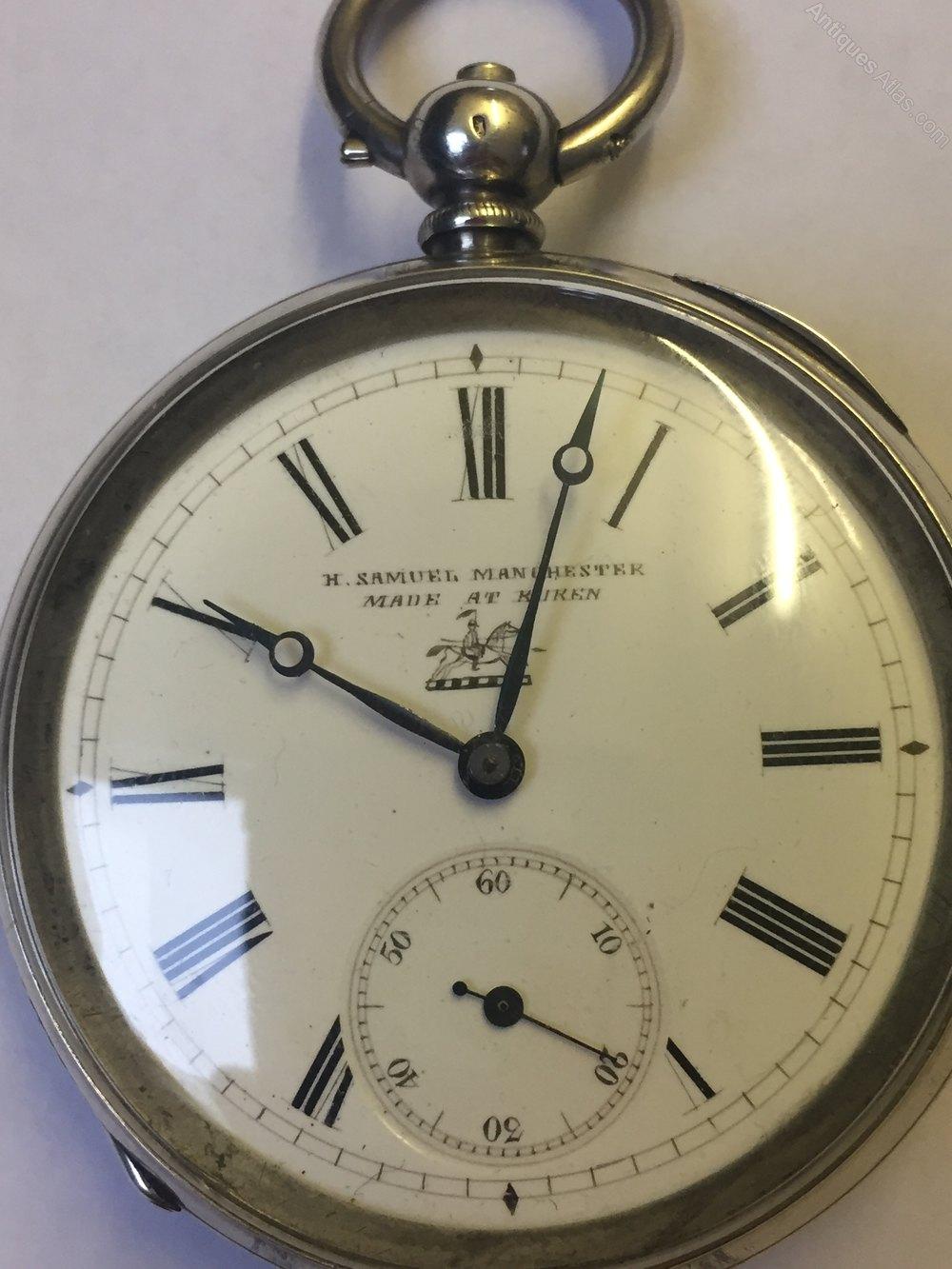 Antiques Atlas Silver Pocket Watch H Samuel Manchester