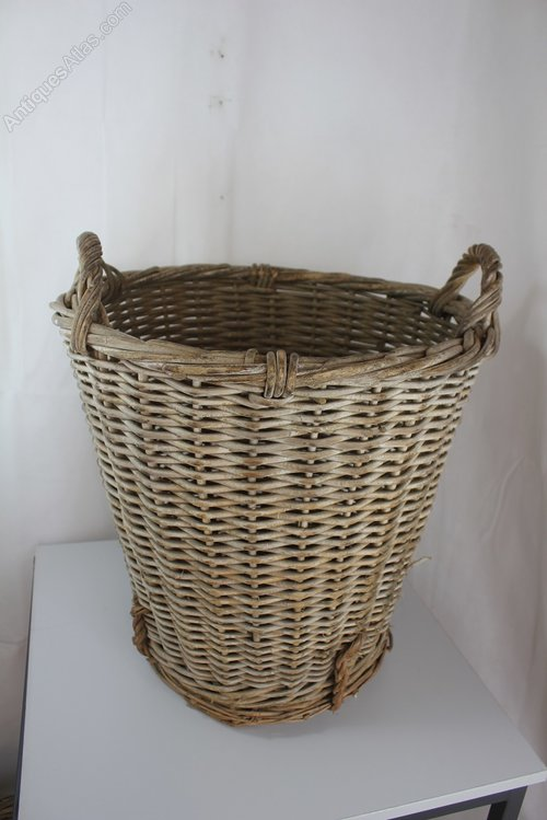 Next Woven Basket : Antiques atlas wicker basket
