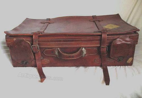 Antiques Atlas - Leather Suitcase, Well Travelled