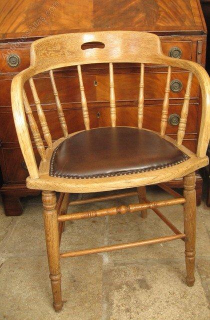 Victorian Oak Desk Chair Or Captains Chair Antiques Atlas