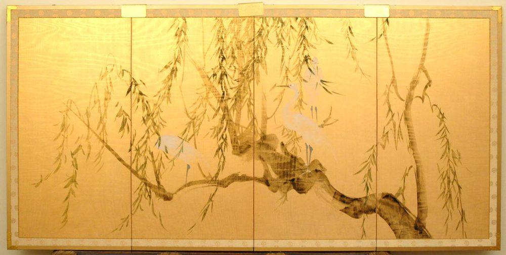 Antiques Atlas Japanese Silk Screen
