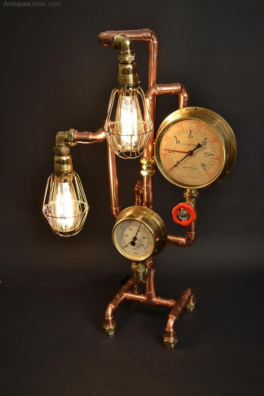Antiques Atlas Jules Verne Steam Punk Style Desk Lamp