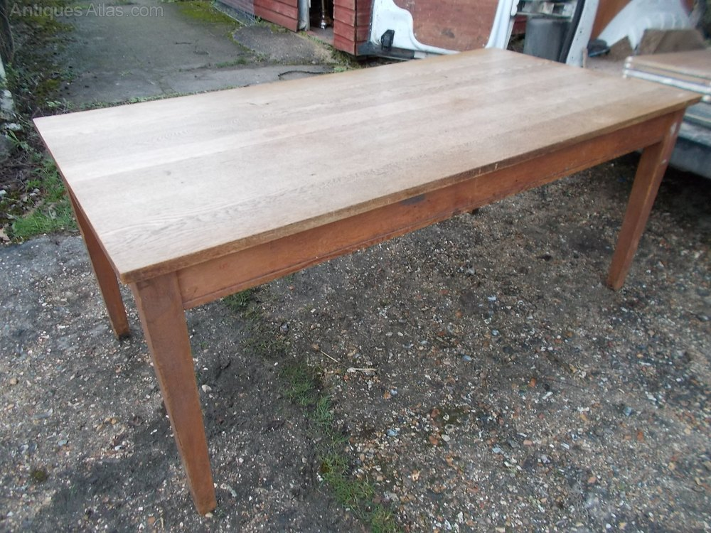 Solid Oak Kitchen Table Solid Oak 7ft Dining Table  : Early20thcenturysolidoakkas505a199z 3 from amlibgroup.com size 1000 x 750 jpeg 197kB