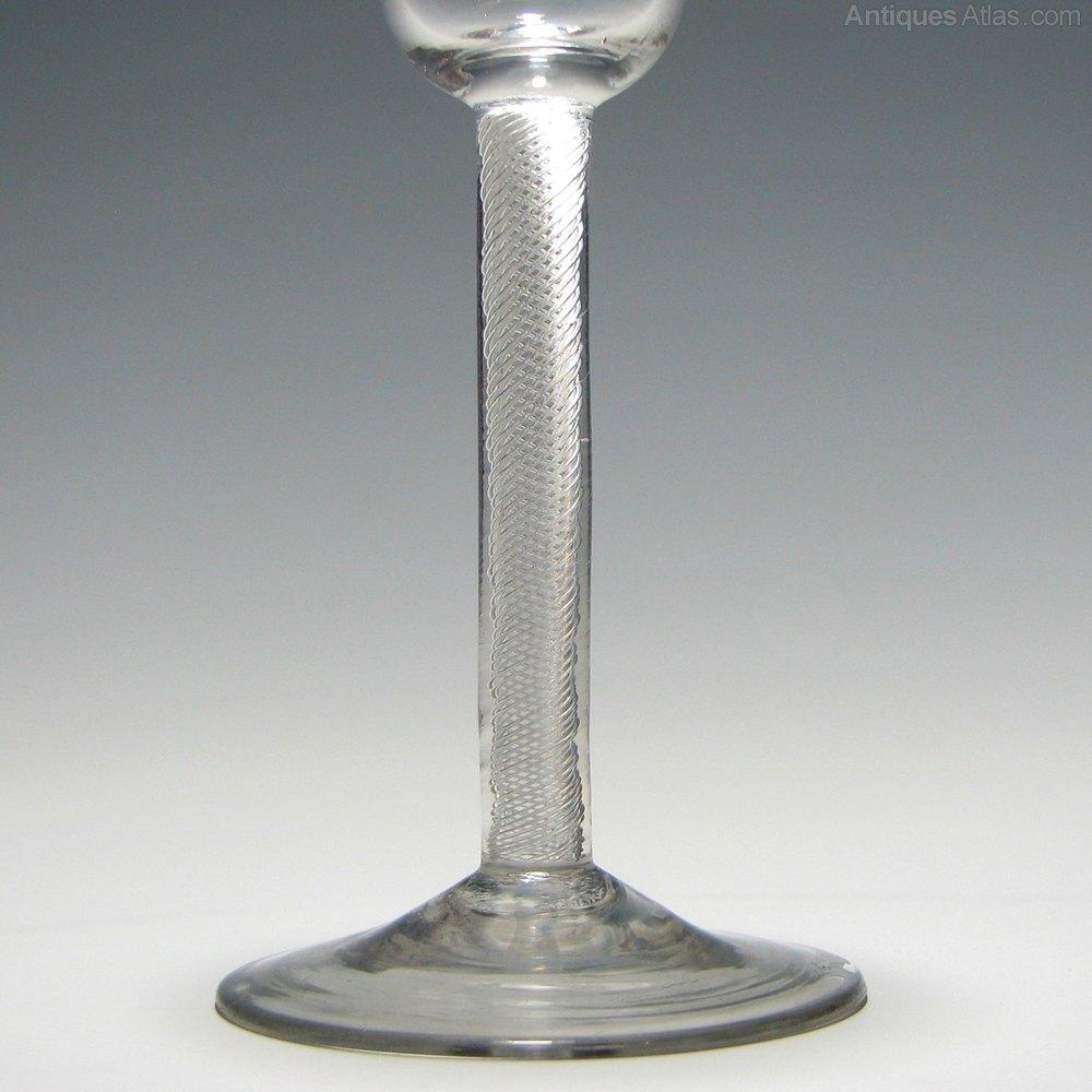 Georgian Air Twist Wine Glass