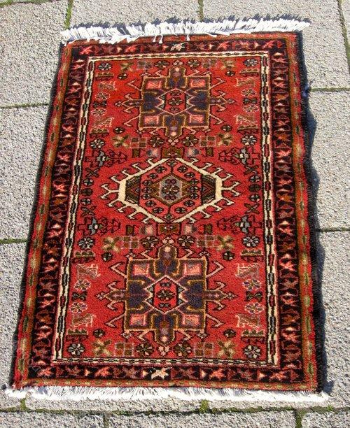 Antique Oriental Rugs Uk: Persian Karaja Oriental Rug 1950s