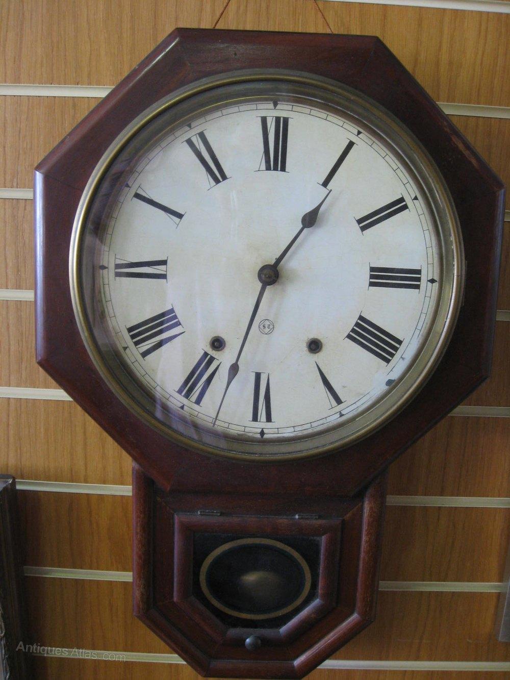 antiques atlas seth thomas mahogany american wall clock