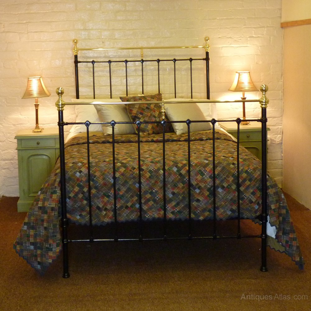 Black Double Brass And Iron Bed Md32 Antiques Atlas