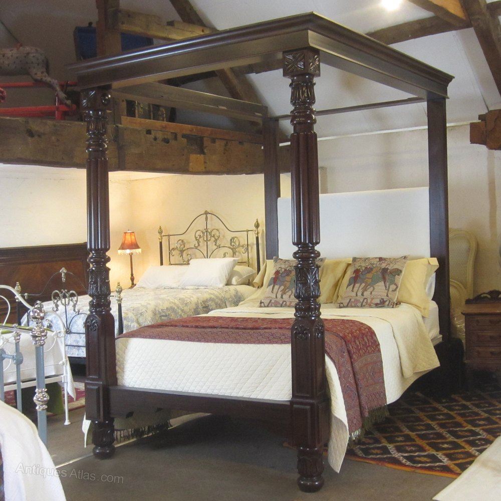 Mahogany Four Poster Bed W4p3 Antiques Atlas