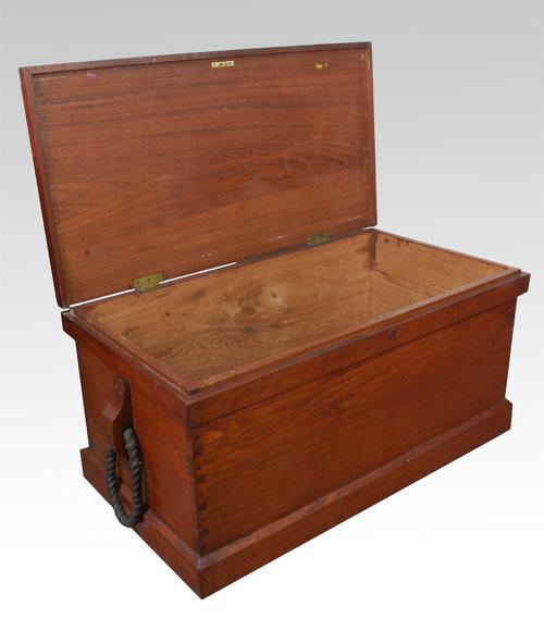 A teak seaman s chest antiques atlas for Seamans furniture