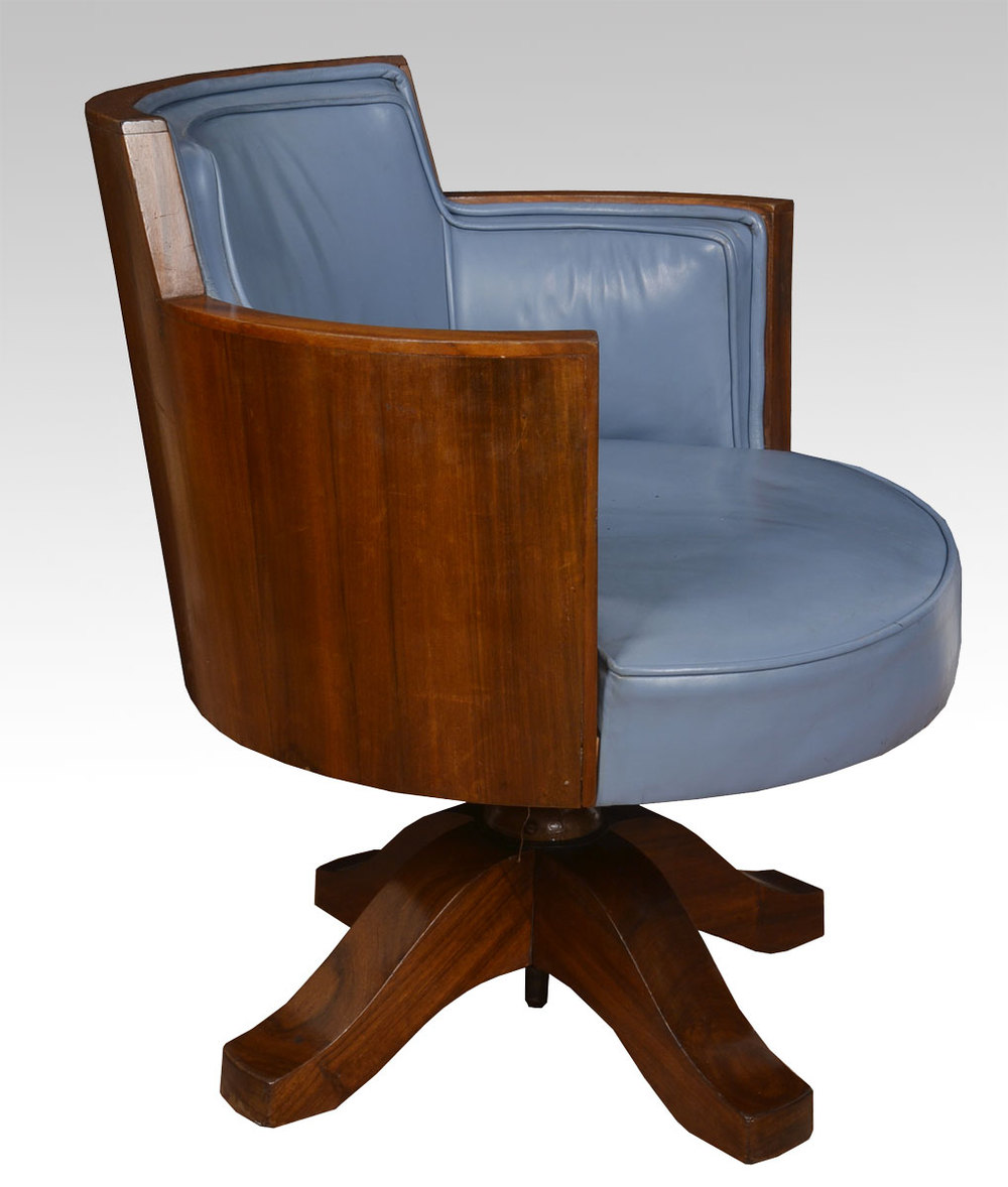 Art deco mahogany framed office chair antiques atlas for Antique office chair