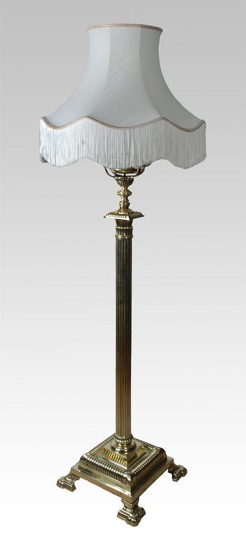 Antiques atlas brass standard lamp for Antique brass standard floor lamp