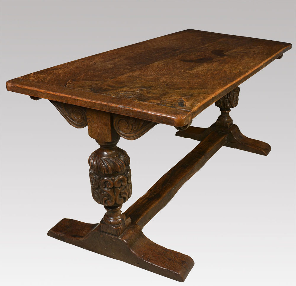 Carved Oak Refectory Table Antiques Atlas