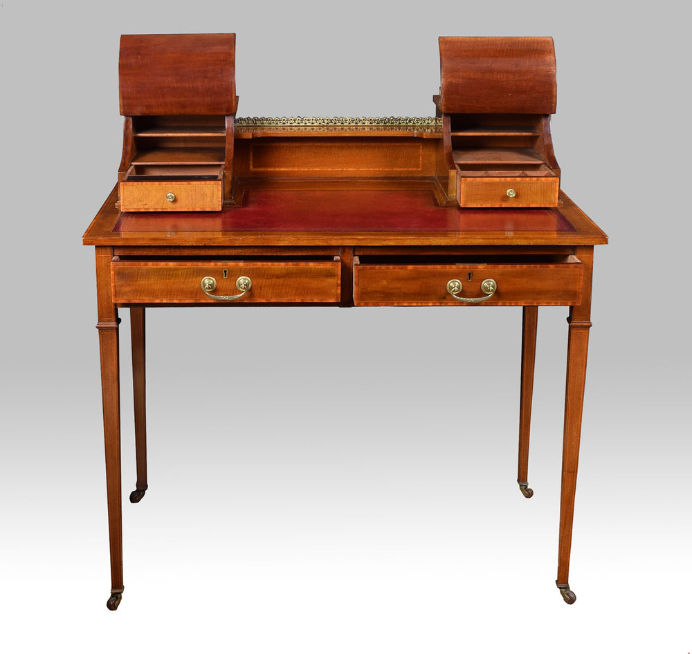 Edwardian Mahogany Writing Desk Antiques Atlas