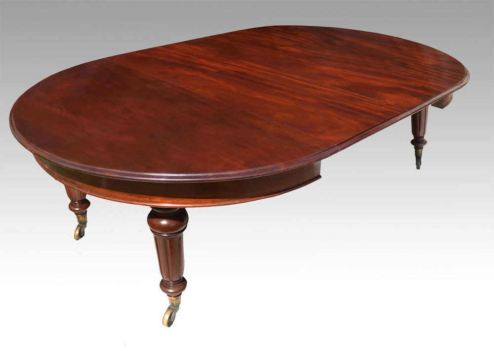 Five foot round mahogany extending dining table antiques for 10 foot round table