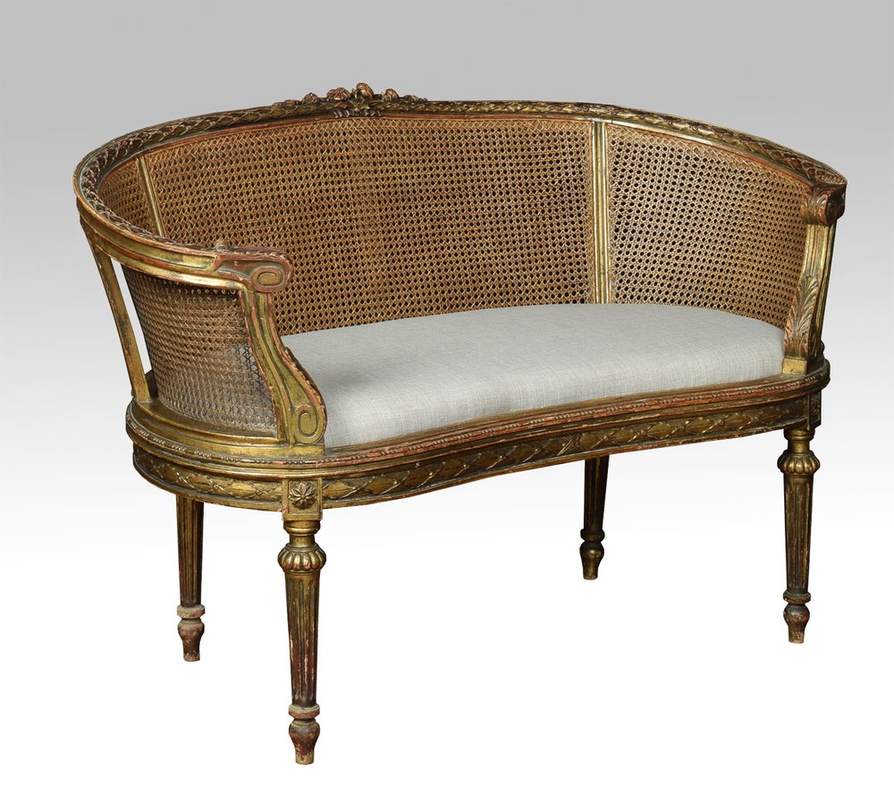 french louis xvi style canape settee antiques atlas. Black Bedroom Furniture Sets. Home Design Ideas