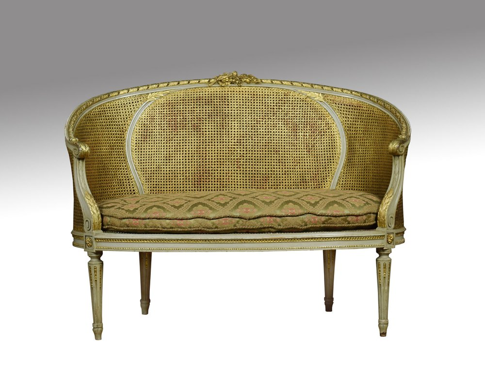 French louis xvi style canap settee antiques atlas - Canape style vintage ...