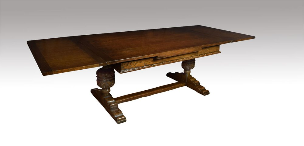 Large oak refectory dining table antiques atlas for 108 inch dining table
