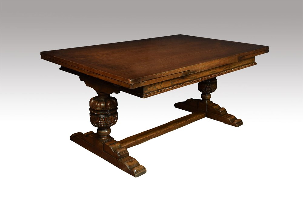 Large oak refectory dining table antiques atlas for Large dining table