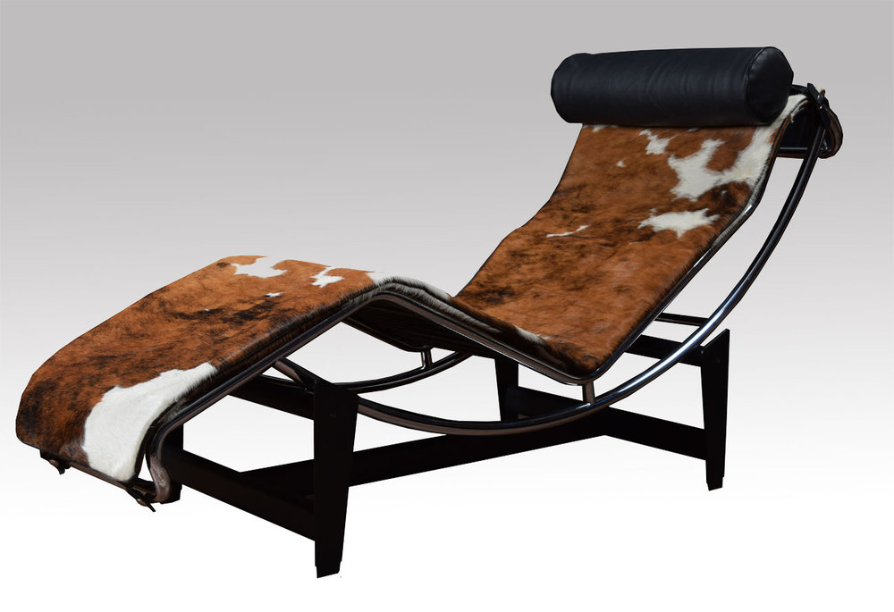 antiques atlas le corbusier lc4 lounge chair in cowhide. Black Bedroom Furniture Sets. Home Design Ideas