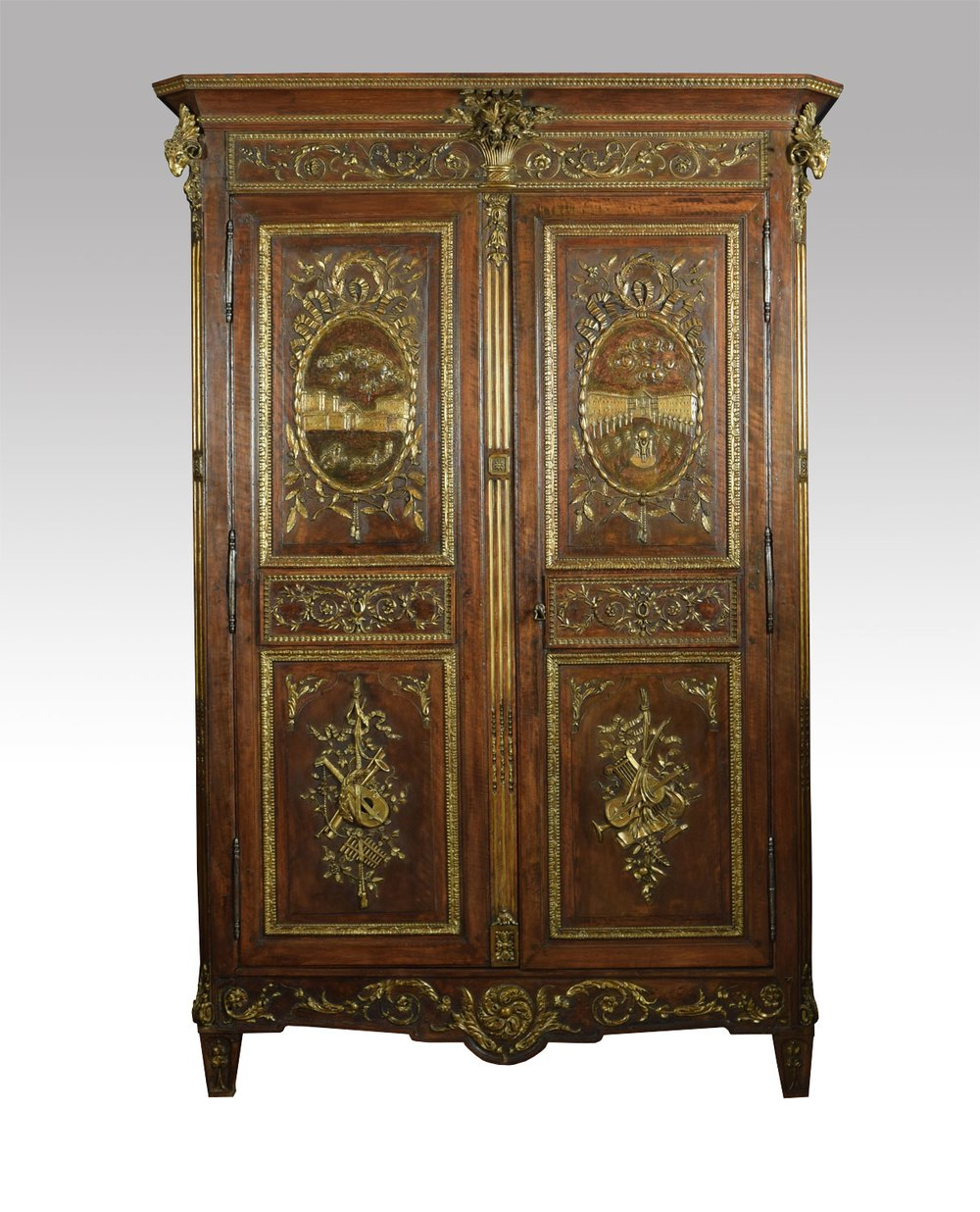 louis xv french walnut armoire antiques atlas. Black Bedroom Furniture Sets. Home Design Ideas