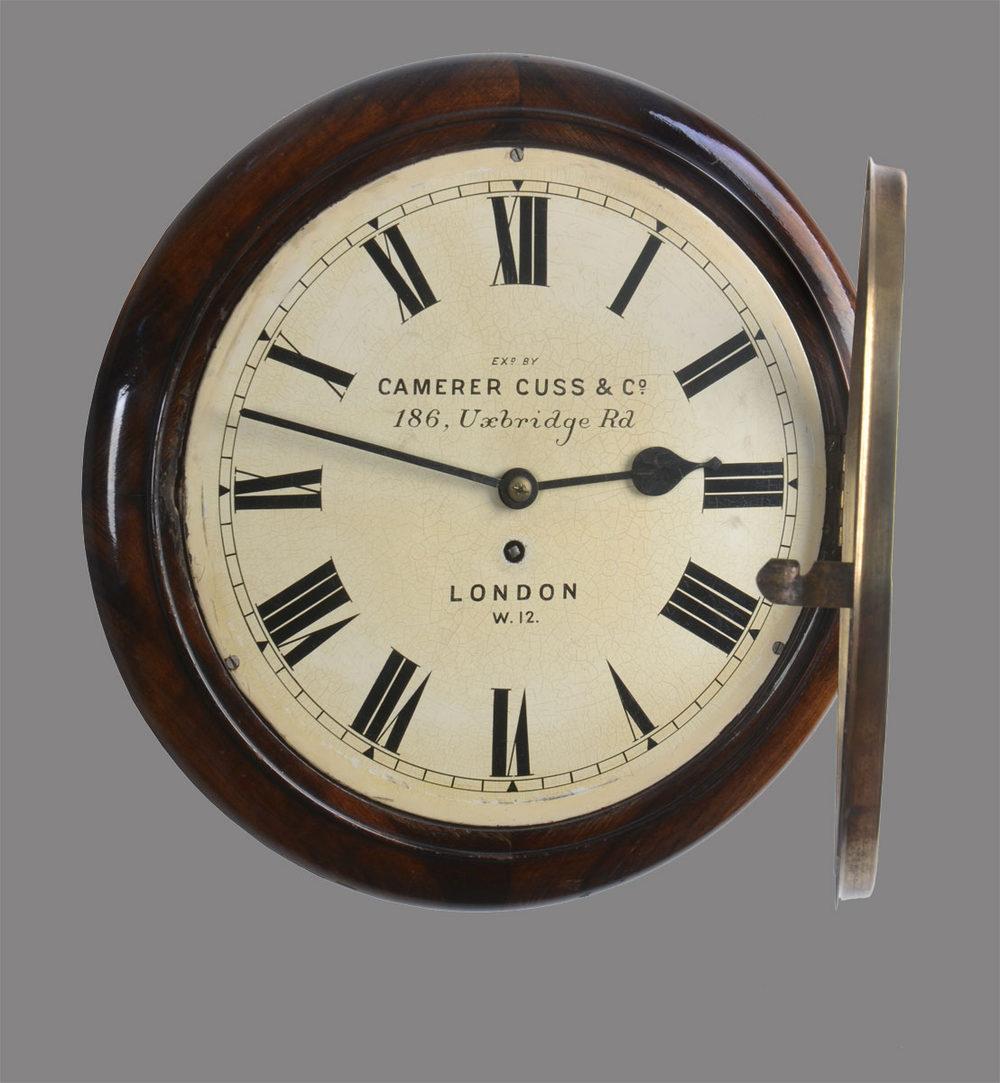 Antiques Atlas Mahogany Wall Clock Signed Camerer Cuss Co