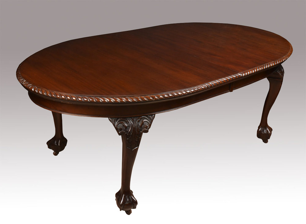 mahogany oval extending dining table antiques atlas. Black Bedroom Furniture Sets. Home Design Ideas