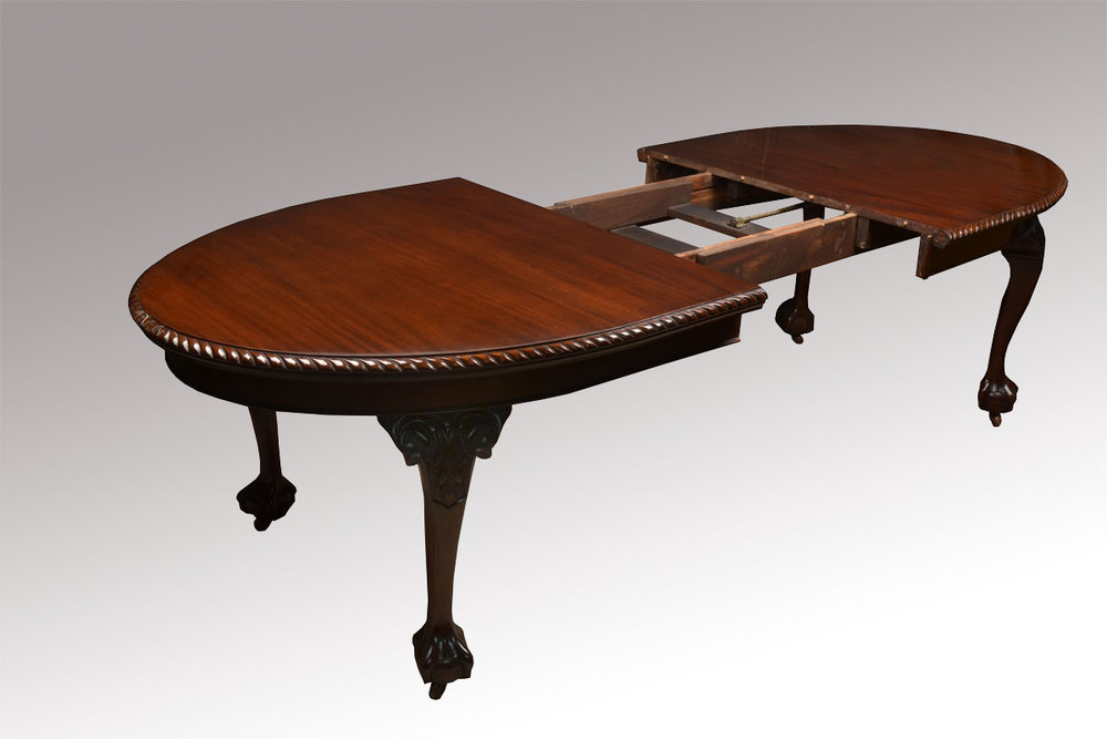 Mahogany Oval Extending Dining Table Antiques Atlas