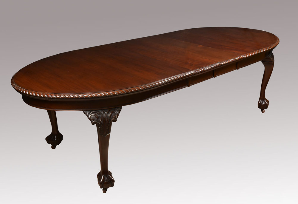 Mahogany oval extending dining table antiques atlas for 12 seater oval dining table