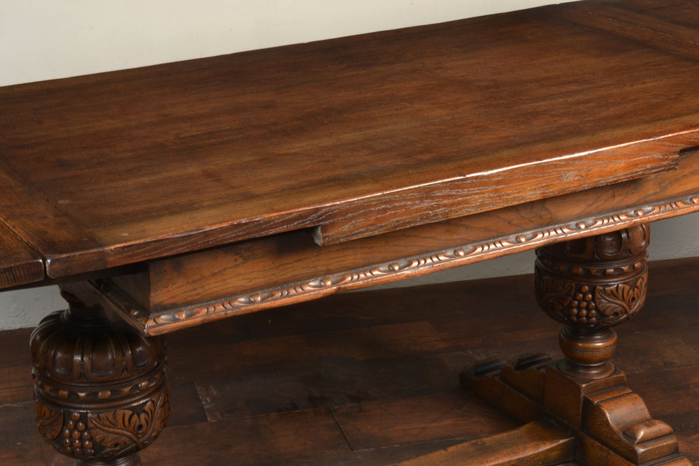 Oak Draw Leaf Refectory Table Antiques Atlas