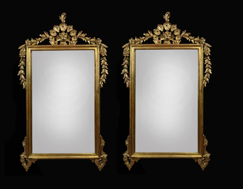 Antiques atlas pair of victorian style giltwood wall mirrors for Antique wall mirrors
