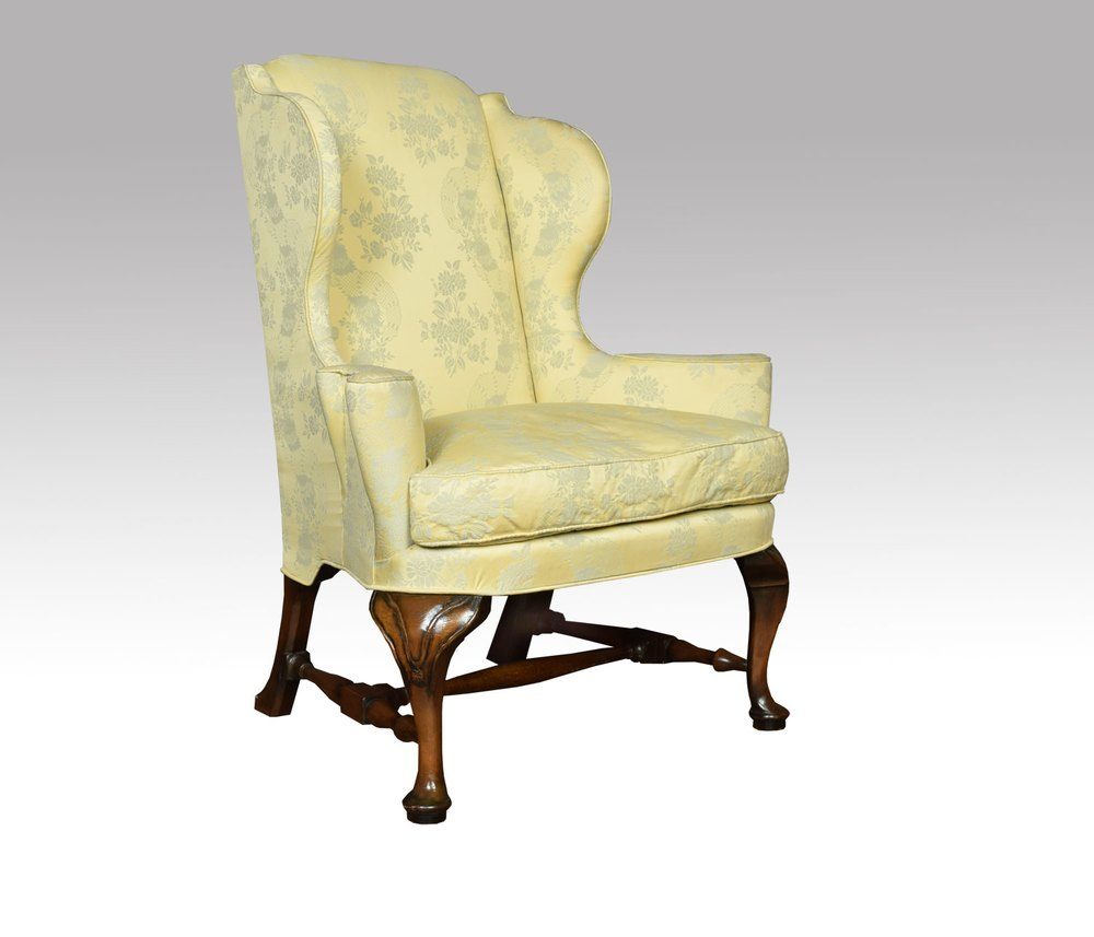 Chesterfield Highclere Flat Wing Queen Anne High Back Wing