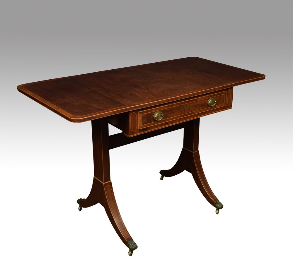 Regency mahogany sofa table of small proportions for Small sofa table