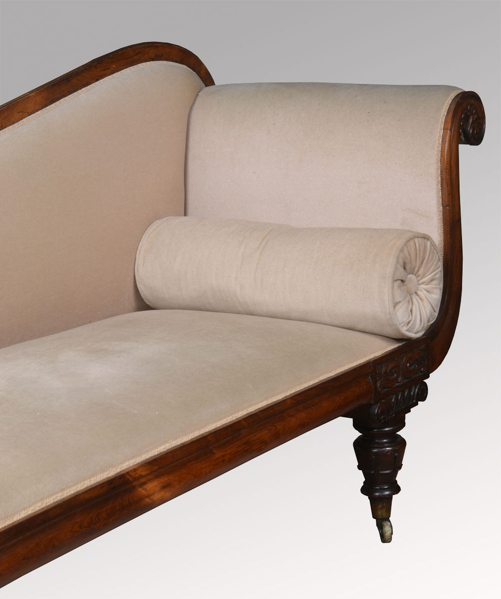 Rosewood framed chaise longue antiques atlas for Antique chaise longue