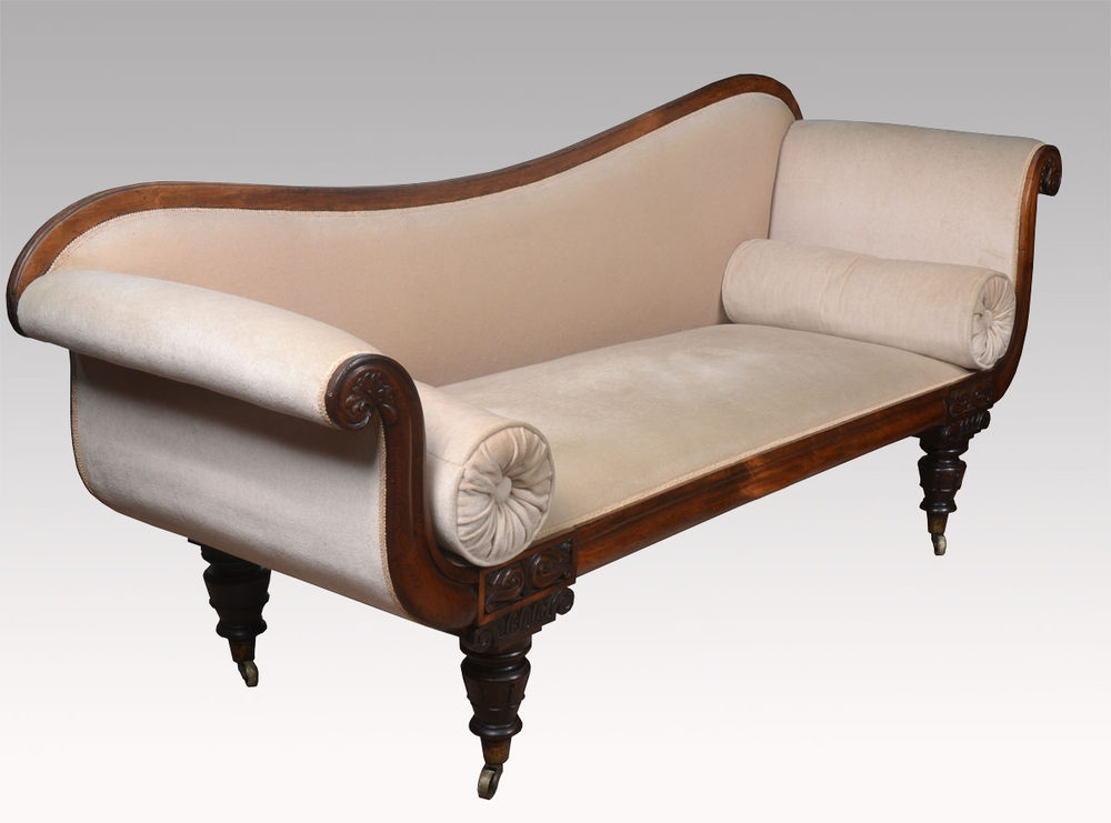 Rosewood framed chaise longue antiques atlas for Chaise longue frame